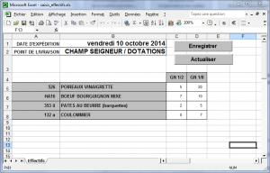 Traçalide Expert - Saisie par Excel
